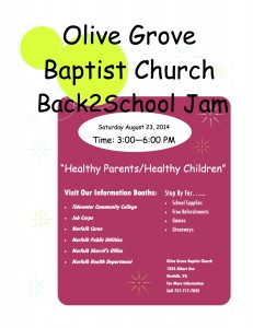 Back2School Jam @ Olive Grove Baptist Church | Norfolk | Virginia | United States