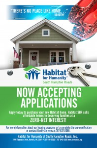 Habitat for Humanity of South Hampton Roads Announces New Homeownership Opportunities @ Chesapeake | Virginia | United States